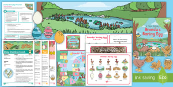 Brenda's Boring Egg Story Sack Resource Pack - twinkl originals, fiction, KS1, EYFS, home learning, Parents, story activities, recipes, duck, duckl