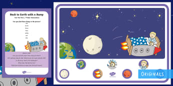 Back to Earth with a Bump Can You Find...? Poster and Prompt Card Pack - Twinkl Fiction, Twinkl Stories, space, Sun, Earht, day and night, Hal