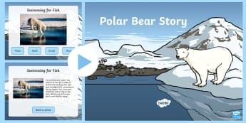 Polar Bear Drama Story and Photos PowerPoint - Priority Resources, polar bear, polar bears, drama, stories, KS1, movement, PE, dance, role play