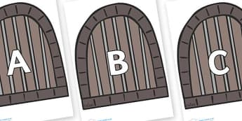A-Z Alphabet on Jail Cells - A-Z, A4, display, Alphabet frieze, Display letters, Letter posters, A-Z letters, Alphabet flashcards