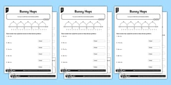 Year 3 Differentiated Division on a Number Line Activity Sheet Pack - written division, number line division, division counting on, calculation methods, differentiated activity, worksheet