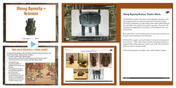 Shang Dynasty Bronzes Lesson Teaching Pack - Shang, Dynasty