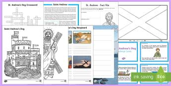 Top Ten KS2 Saint Andrew's Day Activity Pack-Australia