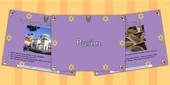Purim Informative PowerPoint - purim, religion, hindu, powerpoint