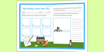 Social Situation Sheet My Family Looks Like This - social story, sheet, family, looks