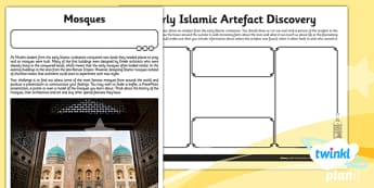 History: Early Islamic Civilisation UKS2 Unit Home Learning Task