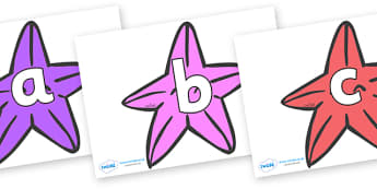 Phoneme Set on Starfish (Multicolour) to Support Teaching on The Rainbow Fish - Phoneme set, phonemes, phoneme, Letters and Sounds, DfES, display, Phase 1, Phase 2, Phase 3, Phase 5, Foundation, Literacy