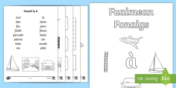 Cfe- Gaelic- Fuaimean Fonaigs à  Duilleag-obrach Activity Sheets  - Cfe, Early Level, First Level, Letters, Sounds, Phonics, Gaelic Sounds, Gaelic Alphabet,Scottish