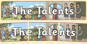 The Talents Display Banner - parables, talents, display, banner