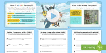 Writing Paragraphs with a DASH?: Creating Tension, Suspense and Atmosphere in Myth Paragraphs Resource Pack - DADWAVERS, literacy shed, paragraphs, openers, setting, legends, mythical