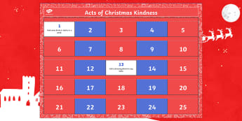 Random Acts of Kindness Advent Calendar - random, acts, kindness, advent, calendar