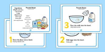 Pancake Recipe Sheets With Measurements Polish Translation - Polish, pancakes, pancake day