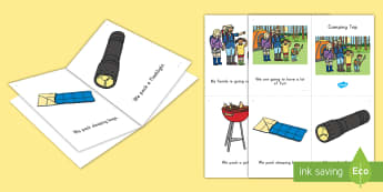 Camping Trip Emergent Reader - Summer, summer season, first day of summer, summer vacation, summertime, camping, beginning readers,