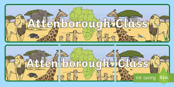 Attenborough Class Display Banner - David Attenborough Display Banner - david attenborough, biography, safari, discovery, natural world,
