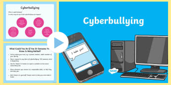 Cyberbullying Assembly PowerPoint - assembly, cyberbullying, cyber bullying, cyber-bullying, SLT, anti bullying week