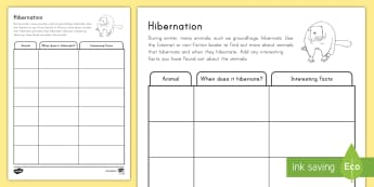 Groundhog Day Hibernation Grades 3-4 Activity Sheet - Groundhog Day worksheet, winter, hibernation, facts, research, worksheet, activity sheet