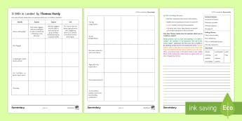 GCSE Poetry Activity Sheets to Support Teaching On 'A Wife in London' by Thomas Hardy - Wife, London, Hardy, Poetry, Eduqas, KS4, Literature, worksheet