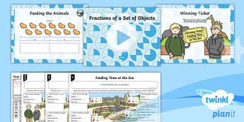 PlanIt Maths Y2 Fractions Lesson Pack Fractions of a Shape or Set of Objects (3)