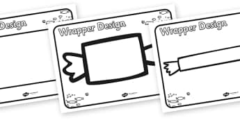 Chocolate Wrapper Design Template - design template, charlie and the chocolate factory, chocolate wrapper, chocolate wrapper design, story book, design