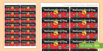 National Sorry Day Stickers - National Sorry Day, Aboriginal, Torres Strait Islander, apology, reconciliation, unity,Australia