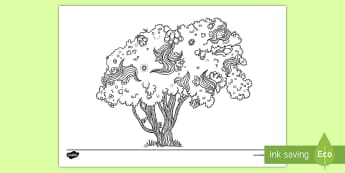 Pōhutukawa Mindfulness Colouring Page - New Zealand Mindfulness, colouring, trees, classroom management