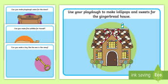 Hansel and Gretel Playdough Mats - hansel, gretel, trad tales
