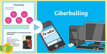 Presentación: Charla sobre el ciberbulling  - Bulling, acoso, acoso escolar, molestar, abuso, abusón, matón, problemas de convivencia, convivenc
