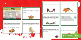 अंश और दशमलव शब्द समस्या क्रिसमस गणित चुनौती कार्ड - शब्द समस्या, क्रिसमस, गणित, चुनौती, दिम