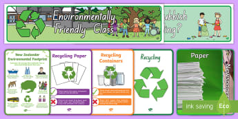 Recycling Display Pack - tidy kiwi, New Zealand, rubbish, recycling, Years 1-6, display