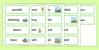 The Sower and the Seeds Word Cards - sower, seed, word cards
