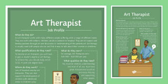 Art Therapist Job Profile A4 Display Poster - art, therapy, industry, thearapist, artist, support, career