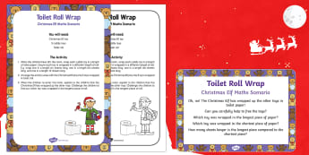 Toilet Roll Wrap Christmas Elf Maths Scenario