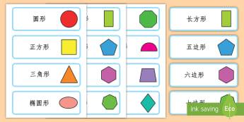 平面图形卡片 - 平面图形卡片,平面图形名称,形状