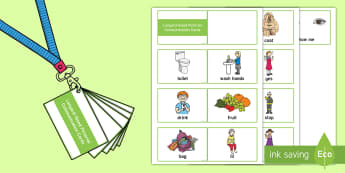 Lanyard-Sized Pictorial Communication Cards - EYFS, Early Years, Nursery, FS1, Reception, FS2, Assessment Resources, SEN, special needs, EAL, lear