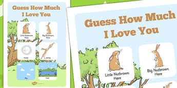 Guess How Much I Love You Vocabulary Poster - vocab, keywords