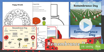 EYFS Remembrance Day 2017 Resource Pack - remembrance day, poppy, soldiers, war, fallen, remember