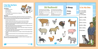 I Can See The Farm Busy Bag Resource Pack for Parents