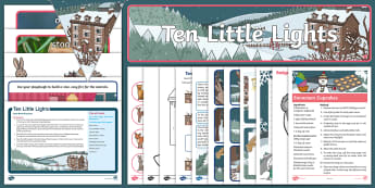 Childminder Ten Little Lights EYFS Resource Pack - child minder, child minding, Winter, Snow, British Wildlife, christmas, snow, story, fiction