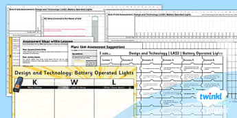 DT: Battery Operated Lights LKS2 Unit Assessment Pack