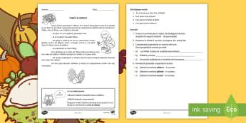 Copiii și toamna Fișă de lucru - fișă de lucru, clasa a II-a, toamna, silabe, exerciții, cerințe, evaluare,Romanian