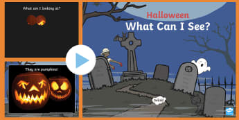 What Can You See? Halloween PowerPoint Game - ESL Halloween Game