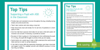 Classroom Tips for Supporting Pupils with ASD Adult Guidance - Requests SEN, classroom tip, ASd, autism, asperger's syndrome, sen resources, sen guidance ,teacher