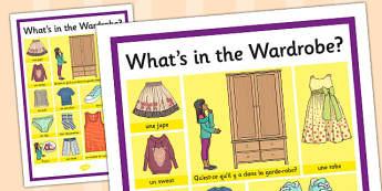 French Clothes 1 Word Grid - french, clothes, word grid, grid
