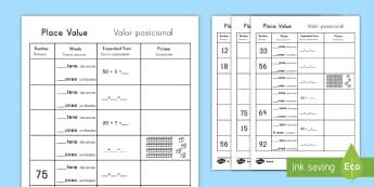 Place Value Go Fish Style Activity US English/Spanish (Latin) - Place Value Go Fish Style Activity - place value game, ks2 maths game, place value card game, maths