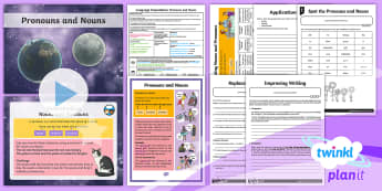 PlanIt Y4 Language Conventions: Pronouns and Nouns Lesson Pack - Language Conventions (Australia), nouns, pronouns, expressing and developing ideas, ACELA1493, writi