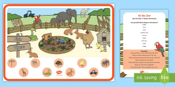At the Zoo Can You Find...? Poster and Prompt Card Pack - safari park, petting, animal park, finding, animals