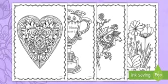 Mother's Day Mindfulness Colouring Pages English/Polish - KS1 & KS2 Mother's Day UK (26.3.17), EAL, Polish translation