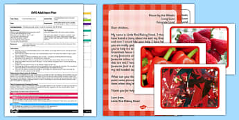 Little Red Riding Hood's Favourite Colour EYFS Adult Input Plan and Resource Pack - little red riding hood