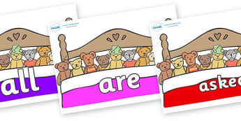 Tricky Words on Ten in a Bed - Tricky words, DfES Letters and Sounds, Letters and sounds, display, words