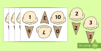 Ice Cream Number Bonds Up to 10 Activity - Ice Cream Number Bonds to Ten - 0-10, bonds to ten, number bonds, number activities, number games, a